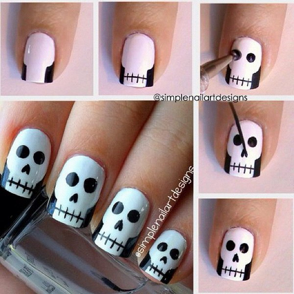 halloween nail design tutorials