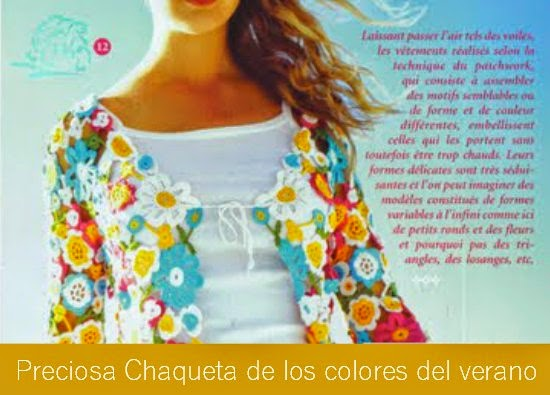 Chaqueta Flores de Colores Patron