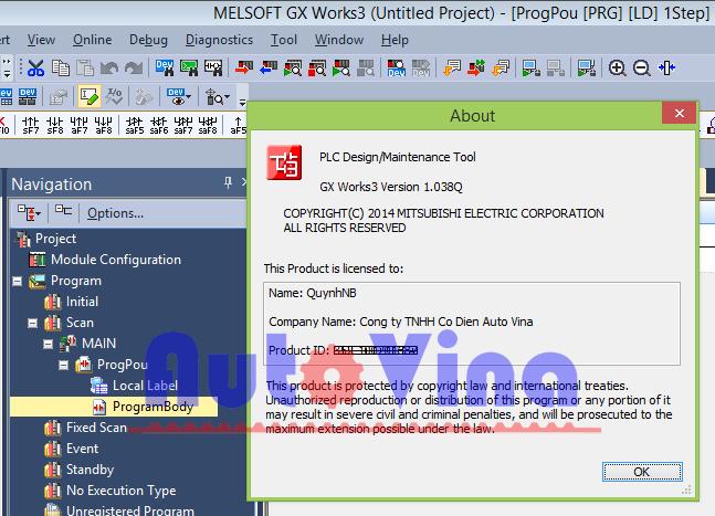 Phần mềm lập trình PLC Mitsubishi GX Works 3