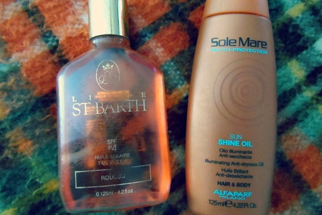 St Barth tanning oil, Sole Mare oil
