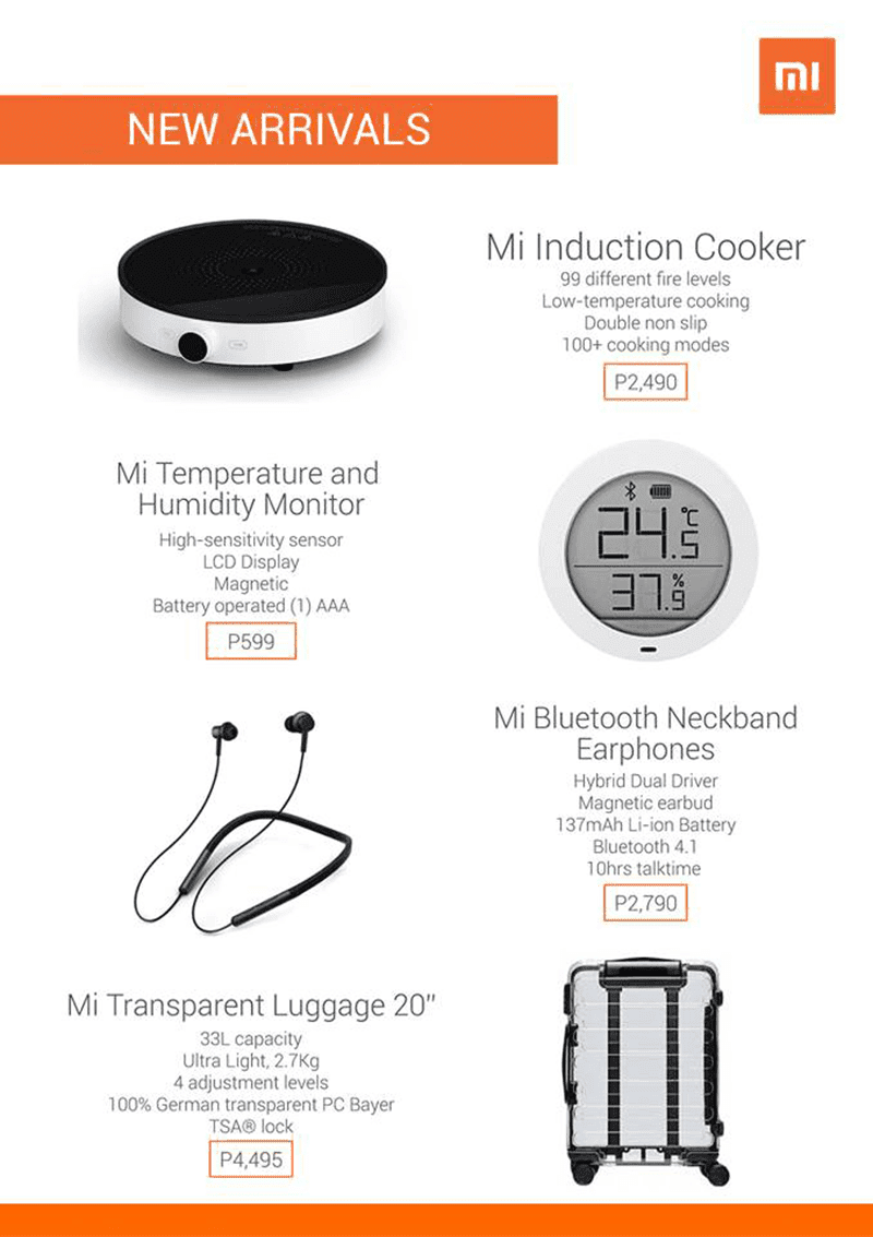 Some of Xiaomi's smart home products