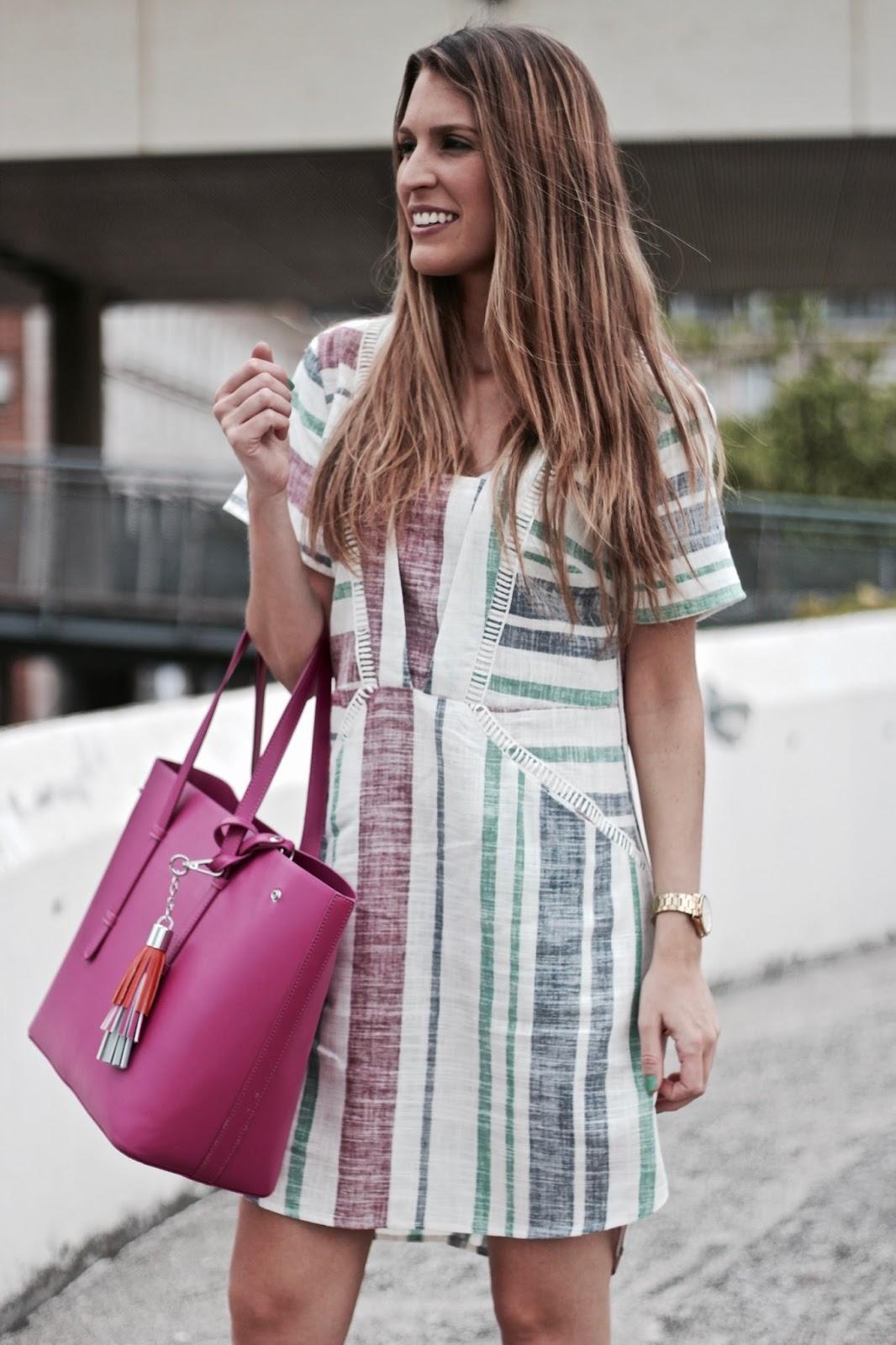 vestido de lino rayas