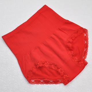 Japan MUNAFIE Premium High Waist Slimming Shaping Panties - Red
