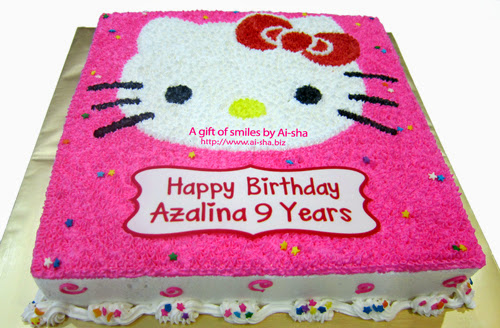 Birthday Cake Hello Kitty Buttercream