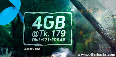 4GB At Only 179 TK Grameenphone New Internet Offer 2017 - posted by www.offerbarta.com