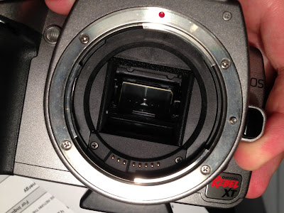 canon rebel xt mirror