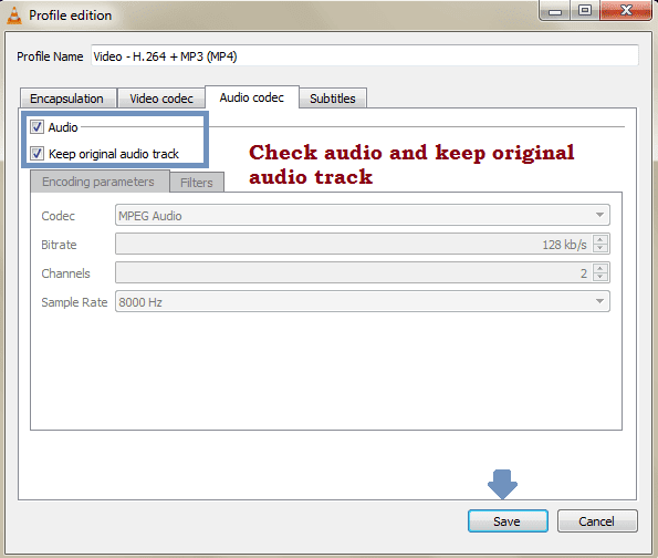 Audio codec VLC