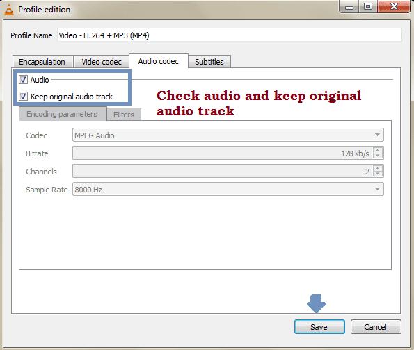Audio codec VLC