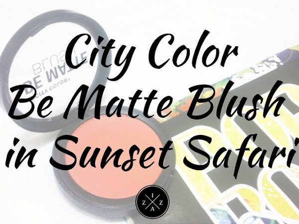 City Color Be Matte Blush in Sunset Safari Review
