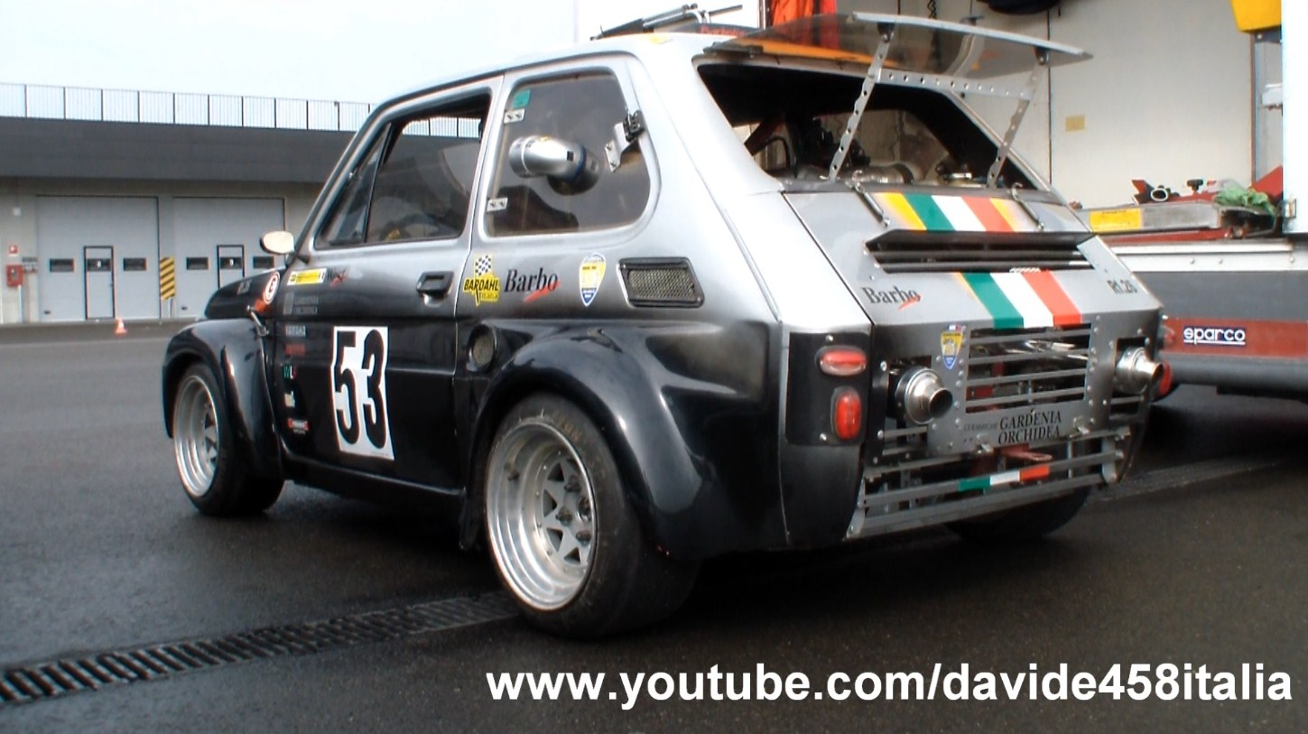 hight resolution of fiat 126 with yamaha r1 engine video