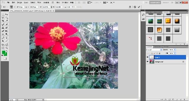 Cara Membuat Watermark Pada Sebuah Foto
