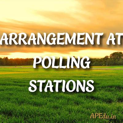ARRANGEMENT AT POLLING STATIONS