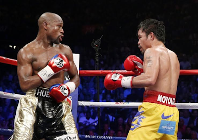 Floyd Mayweather vs Manny Pacquiao part 2 a 'possibility' says boxing promoter after Mayweather admits he could be tempted back