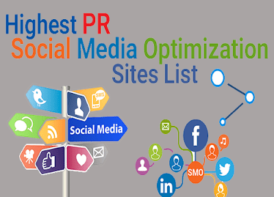 high PR social media site list