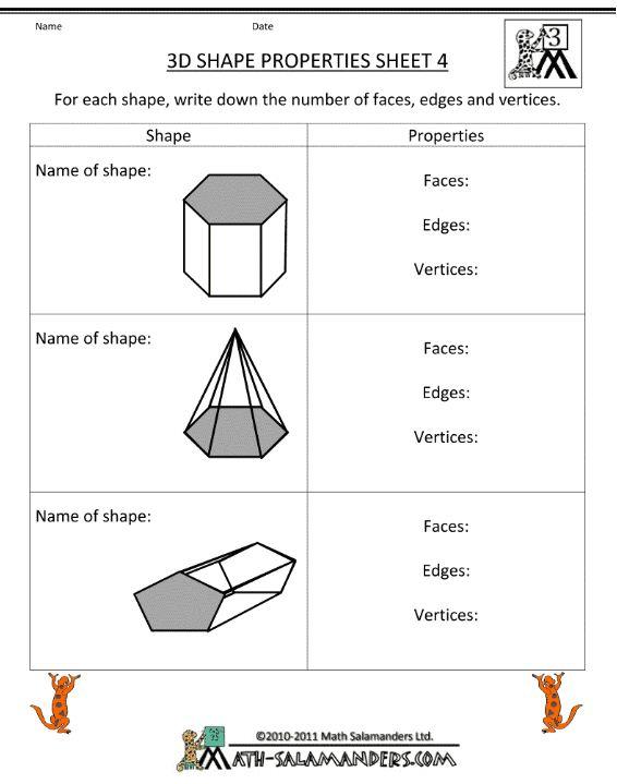 Mr Howards Esol Math 3 22 7th Edges Faces Vertices