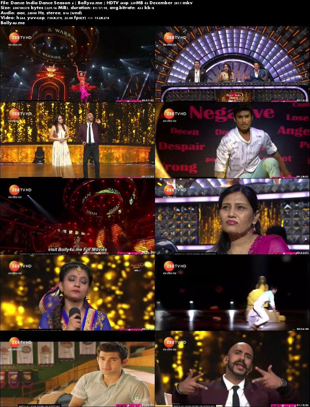 Dance India Dance HDTV 480p 200MB 03 Dec 2017 Download