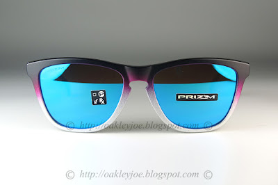 7b65eacd8a OO9013-E355 Frogskins Fire and Ice Collection matte crystal + prizm grey   205 lens pre coated with Oakley hydrophobic nano solution