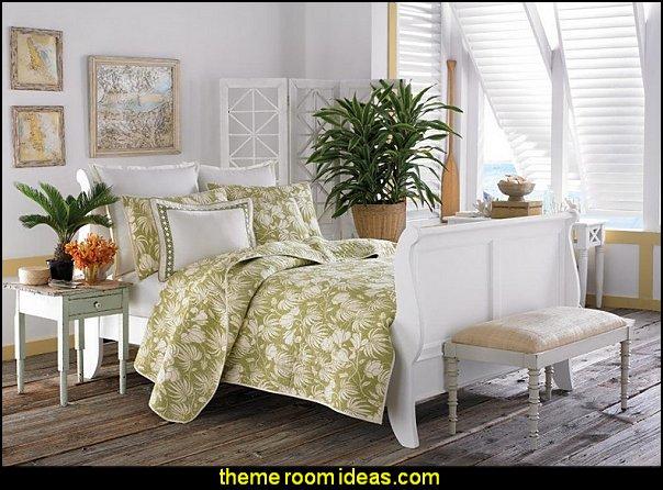 Tommy Bahama Plantation Floral Quilt Set