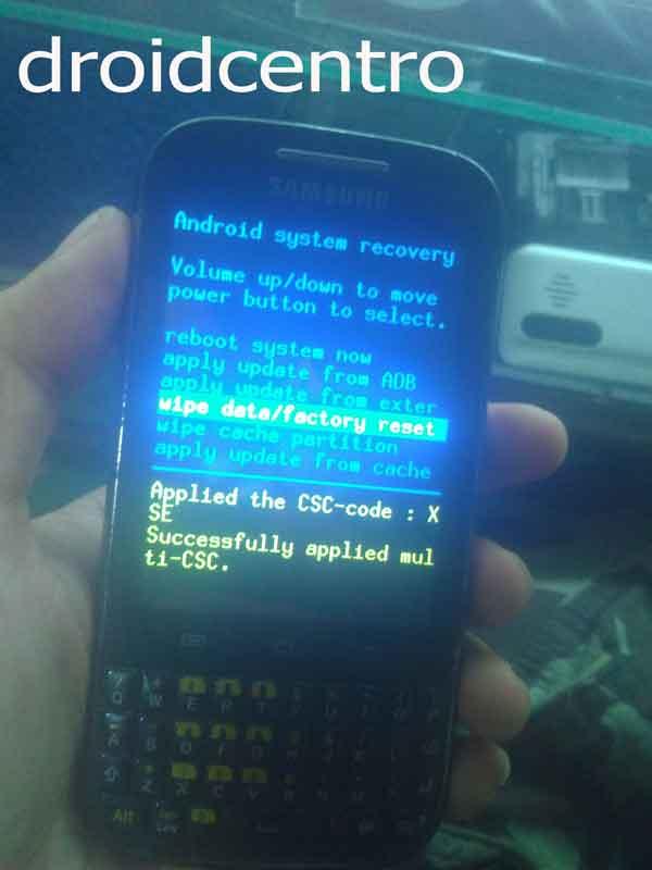 Atasi Samsung Galaxy Chat B5330 Lupa Pola - Hard Reset