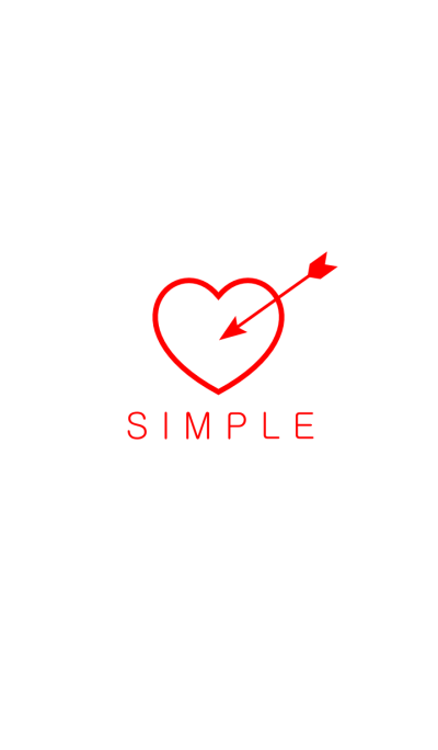 SIMPLE HEART(white)Ver.22b
