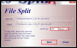 Cara Memecah Ukuran File Besar Dengan HJSplit .001, .002, .003 dst