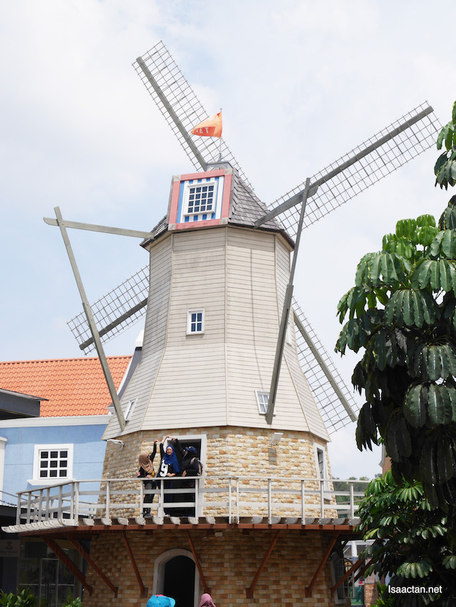 Giant Windmill structure in the middle of Freeport A'Famosa Outlet, Melaka