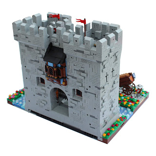Woodstock Castle Lego Gatehouse Rear View