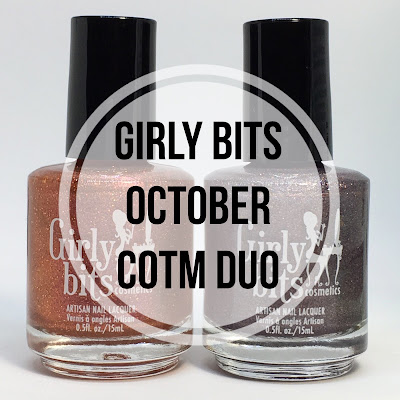 girly bits october 2017 cotm swatches