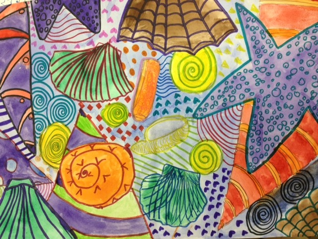 Art With Mrs Lane Seashell Observations