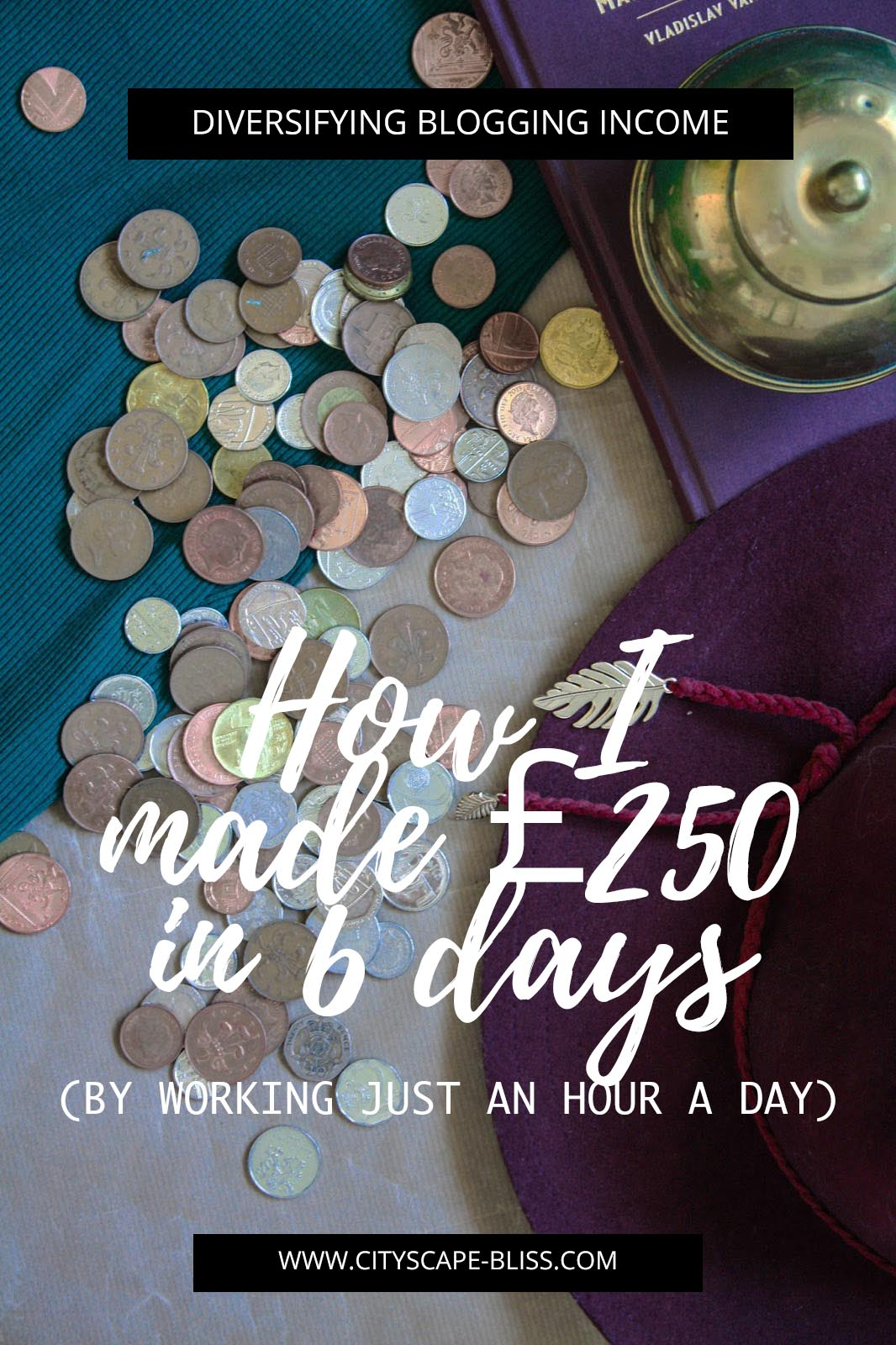 Diversifying blogging income: How I made £250 in 6 days (by working just an hour a day!)