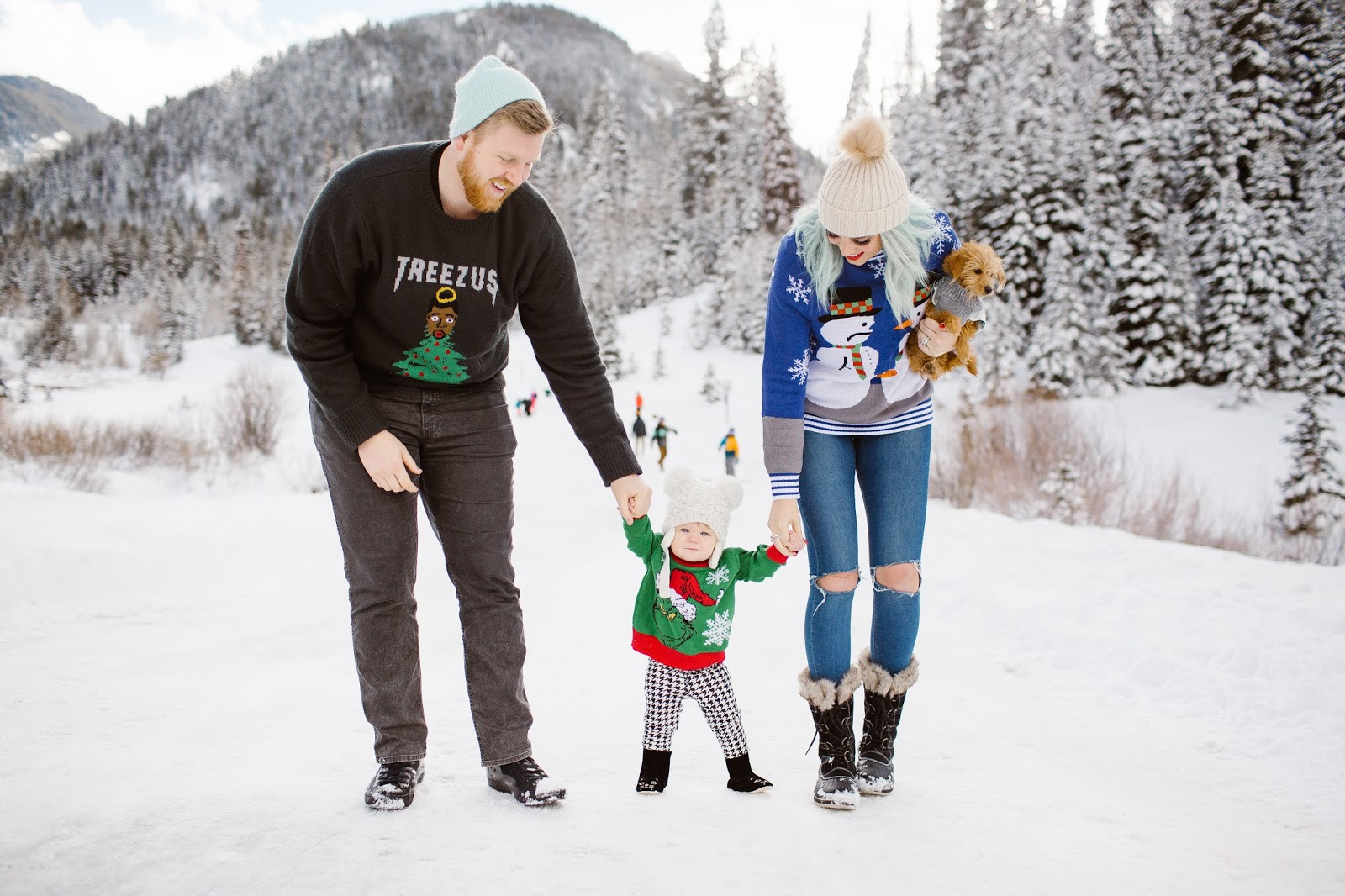 Winter Family Photos Utah Fashion Blogger Pictures