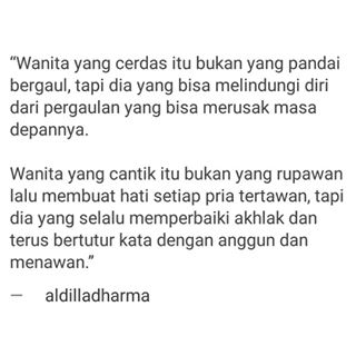 Quote Aldila Dharma Wijaya Tentang Wanita