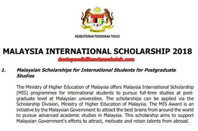 Beasiswa Kuliah Gratuitous S-2, S-3 Di Universitas Ternama Malaysia Tahun 2018 | Information Pendidikan Terkini