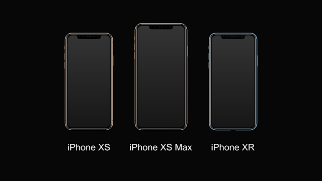 Iphone Xs, iPhone Xs Max and iPhone XR smartphones