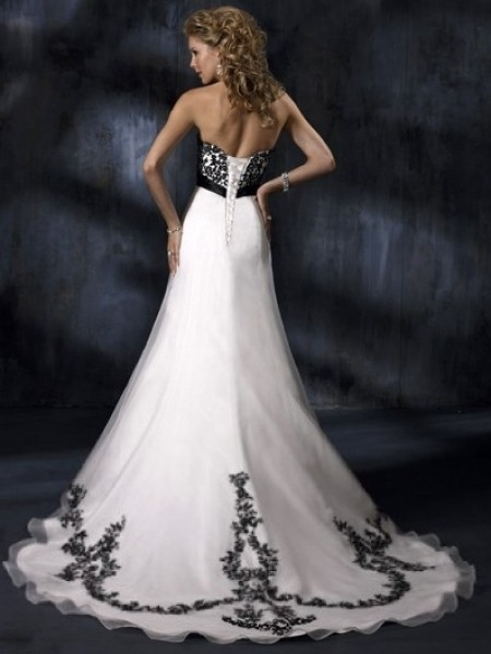 Designed Coventry Charming Empire Strapless Sweetheart Court Trains Sleeveless Wedding Dress For Brides
