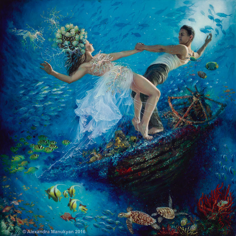Figurative Paintings by Alexandra Manukyan from Los Angeles.