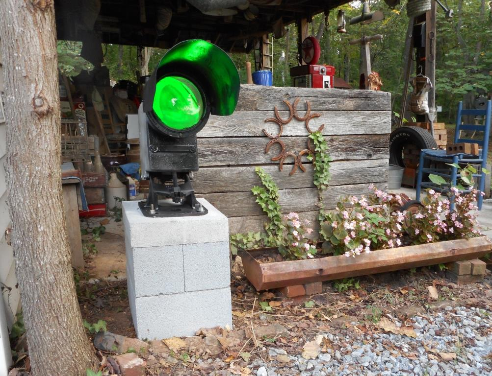 WILEY RAILROAD RELIC GARDEN in the foothills of the Blue Ridge