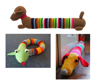 Tope burletes tejidos al crochet