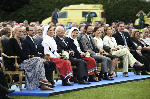 Crown Princess Victoria of Sweden, Prince Daniel of Sweden, Prince Carl Philip of Sweden and Princess Sofia of Sweden, Princess Madeleine of Sweden; Christopher O'Neill