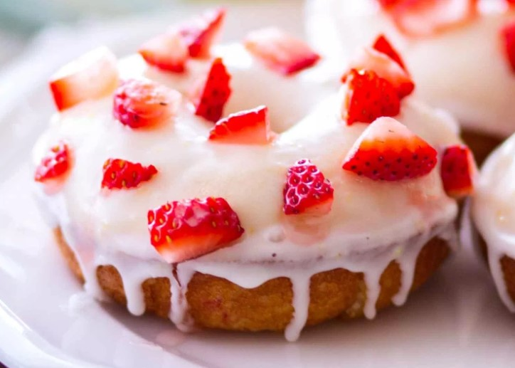BAKED STRAWBERRY LEMON DONUTS RECIPES
