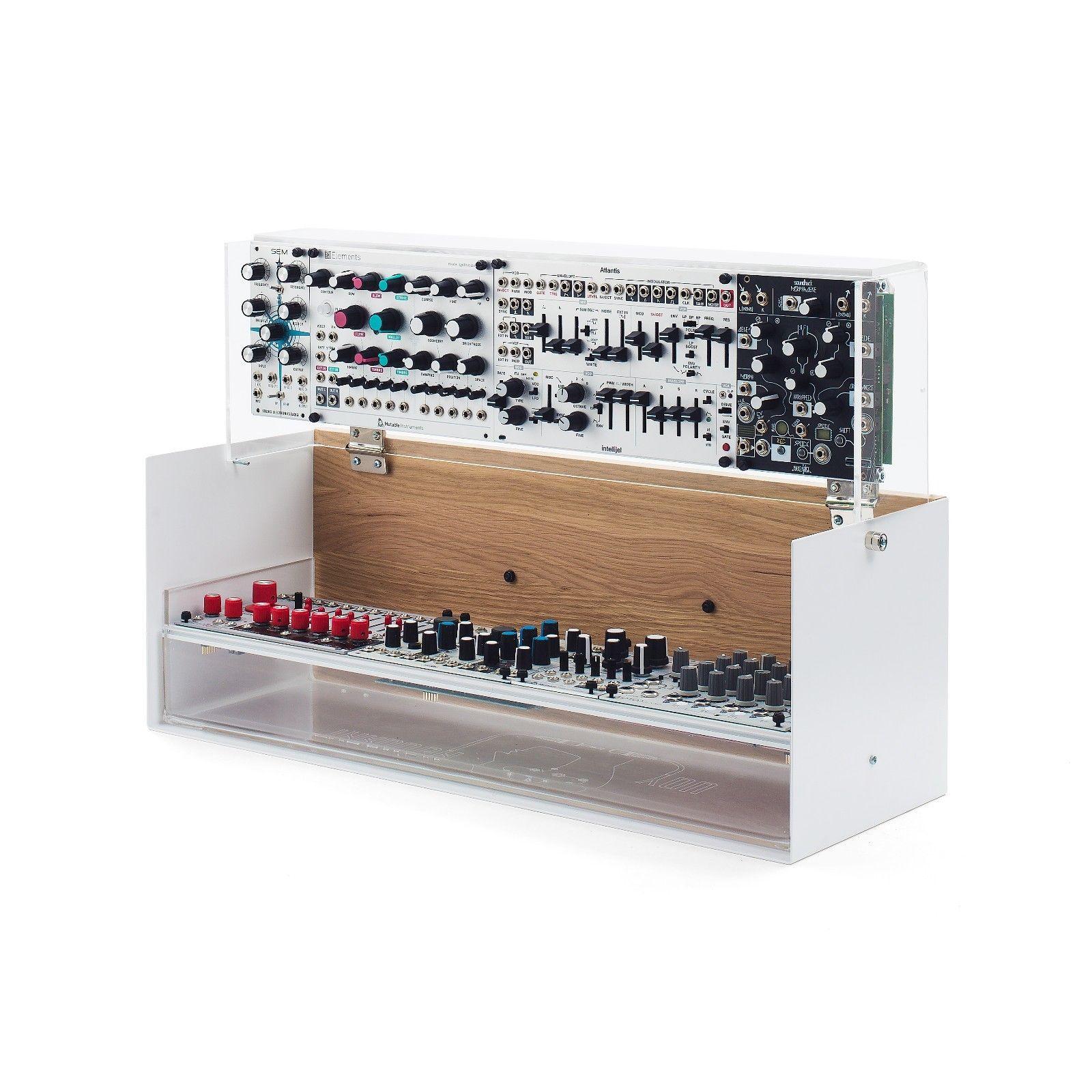 matrixsynth unique hinged eurorack robocase 6u 104hp modular synthesizer rack case. Black Bedroom Furniture Sets. Home Design Ideas