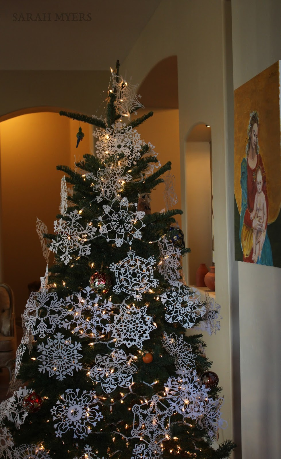The other oeuvre the christmas tree art and photography for Hand work decoration