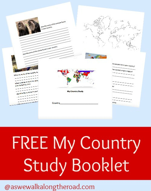 Printable country study pack