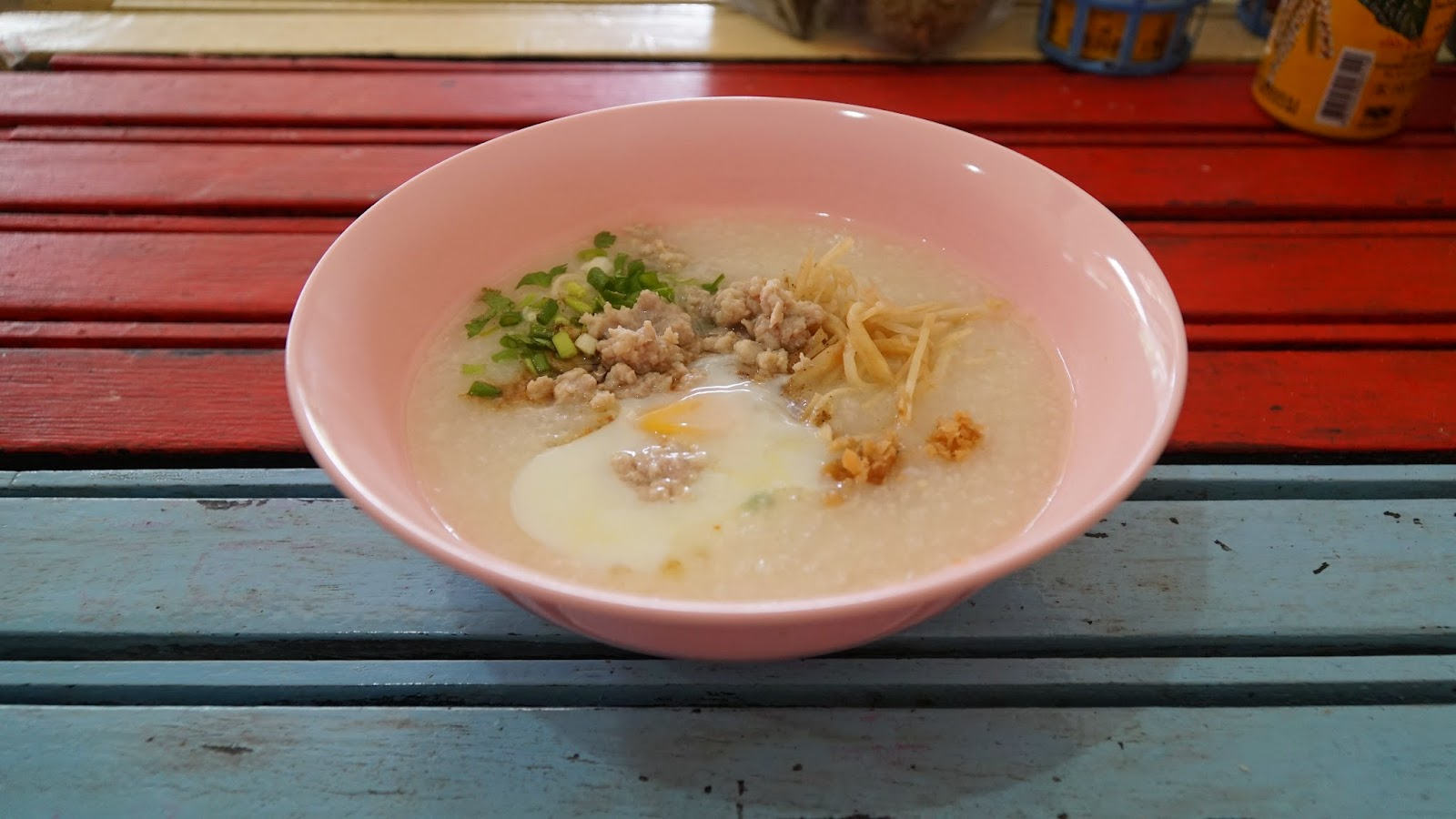Delicious Thai congee. So delicious I had the same thing for breakfast over the next few days