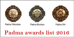 Padma awards 2016 list