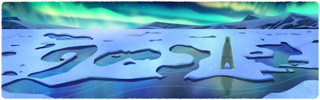 Google Doodle Hari Bumi 2016 Beruang Kutub