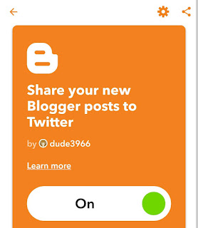 Turn on Blogger Twitter IFTTT applet