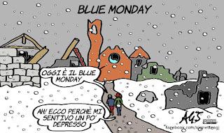 bluemonday, terremoto centro italia, terremotati, freddo, neve, tristezza, vignetta, satira
