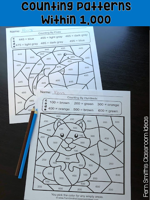 Your students will adore these Color By Numbers worksheets while learning and reviewing important skills at the same time! You will love the no prep, print and go ease of these printables. As always, answer keys are included. Color By Code Second Grade Go Math Lesson 1.8 Counting Patterns Within 100 and Second Grade Go Math Lesson 1.9 Counting Patterns Within 1,000. Fern Smith's Classroom Ideas