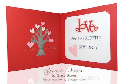 Family Valentine, inside. By Grace Baxter
